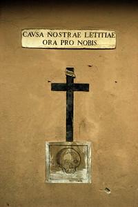 Cross and skull
