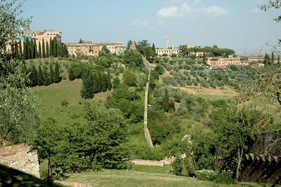 Valley behind Siena