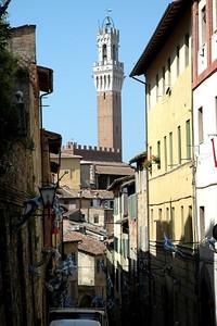 A view toward the Palazzo Pubblico