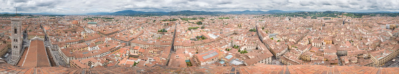 360º Panorama from the top of the Duomo in Florence.