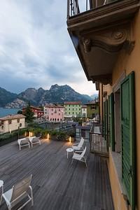 View from hotel window in Lago di Garda.
