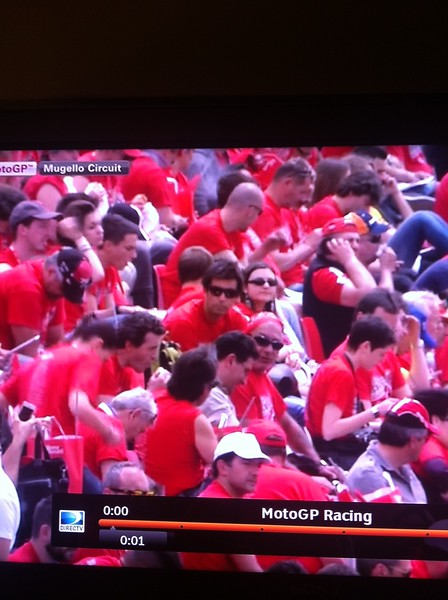 A friend got a picture of me on TV from the race coverage in the USA!!  Thanks John!!!