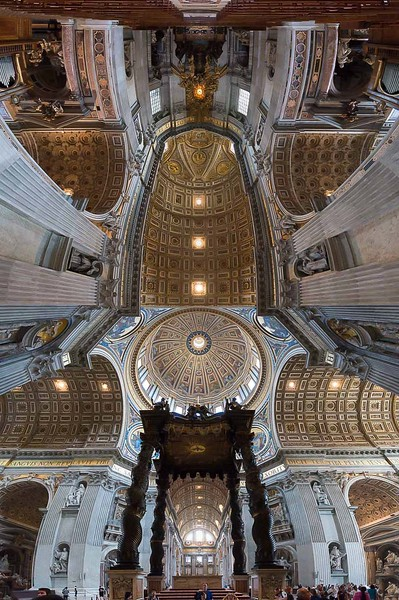 This one is a tad weird but it's a 180º pano from the bottom of one altar to the central altar.