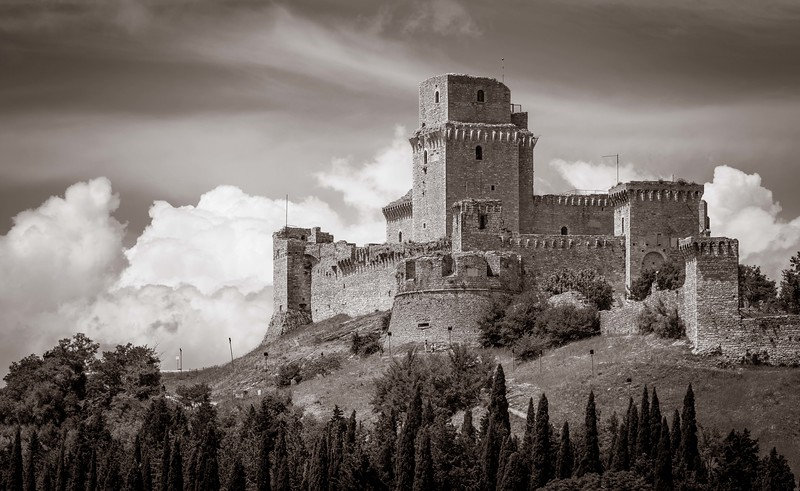 In town of Assisi.