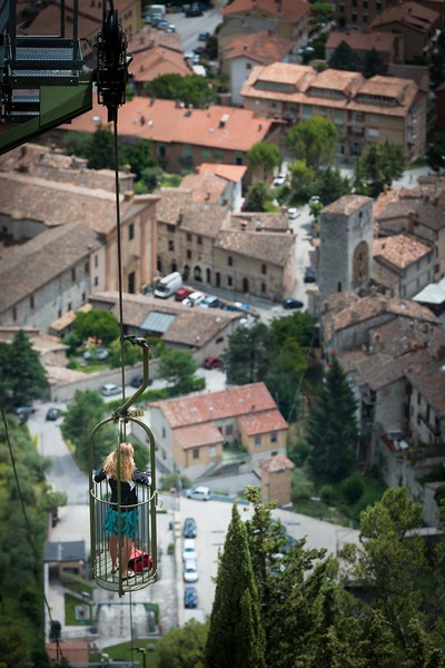 Ski lift to go to church!  Only in Italy.