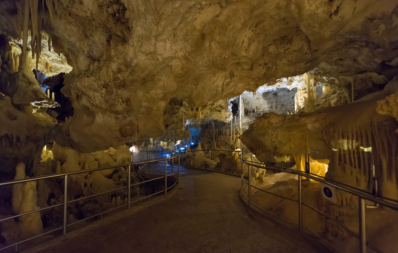 Europe's largest cave, Grotte Di Frasassi.  Super cool.