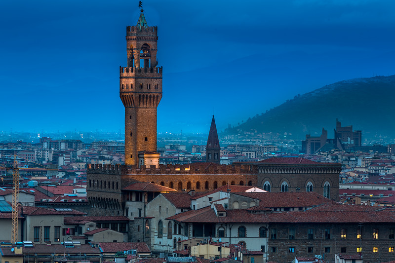 View of Palazzo Vecchio from Piazzale Michelangelo