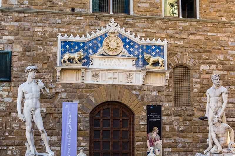 David & Hercules at the Palazo Vecchio