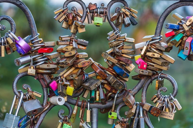 Love Locks at Piazzale Michelangelo