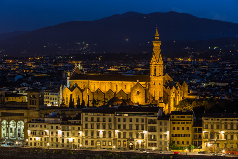 Basilica di Santa Croce from Piazzale Michelangelo