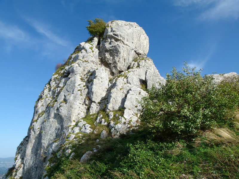 White Rock formation at Capricotta in Italy