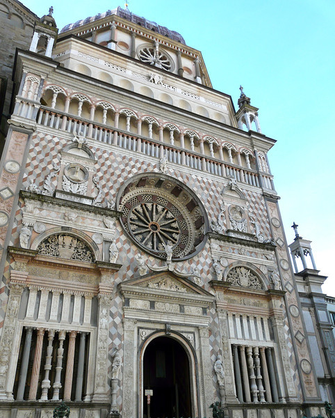 You'll see the Collenoi Chapel on a walking tour of Bergamo, Italy.