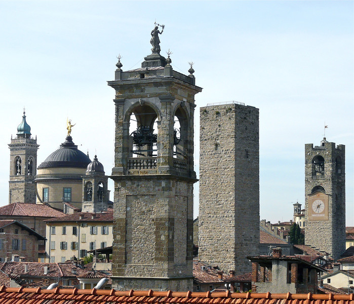 Discover a skyline filled with medieval towers on a walking tour of Bergamo, Italy.