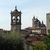 Medieval skyline in Citta Alta, Bergamo, Italy