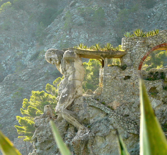 Neptune clings to the cliff at Monterosso