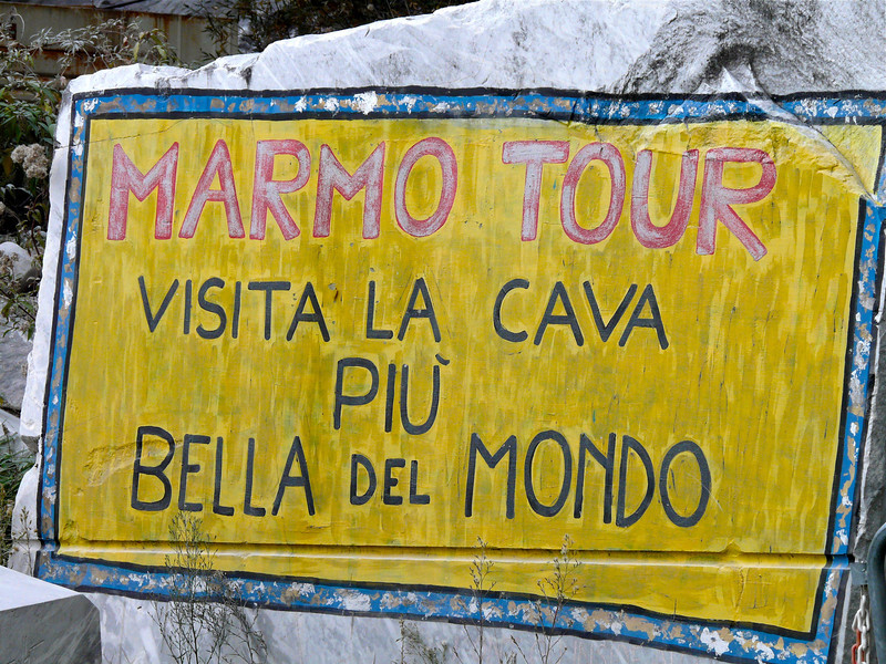 Tips for taking a Carrara marble mine tour near Lucca, Italy.