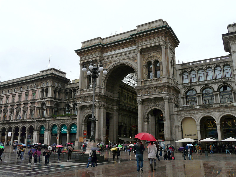 Entrance to Vittorio Emanuele Gallery