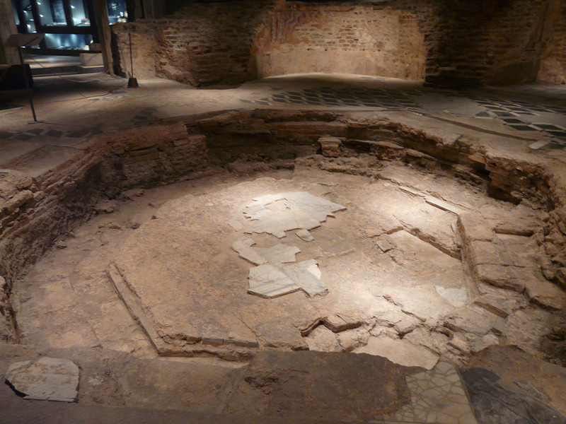 On a 3-hour tour of Milan, Italy, be sure to explore beneath the Duomo to see the foundation of a 4th century Paleochristian babtistery.