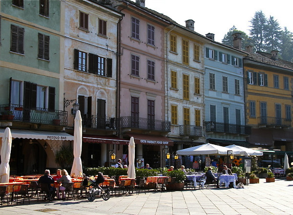 Plaza Motta in Orta San Giulio. Be sure to include this charming town in your Italy travel plans.