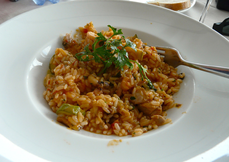 Seafood risotto at Canessa in Baratti, Italy