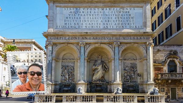 The Fontana dell'Acqua Felice (Fountain of Moses)
