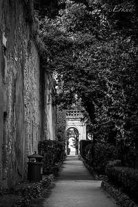 Villa d'Este - Vialone; looking towards the Grand Loggia