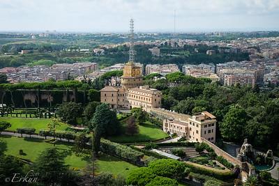 St Peter's Basilica - Vatican Gardens & Radio Building
