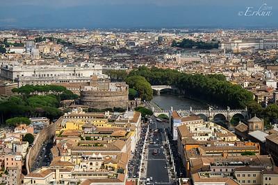 St Peter's Basilica - Castel Sant'Angelo & Tevere