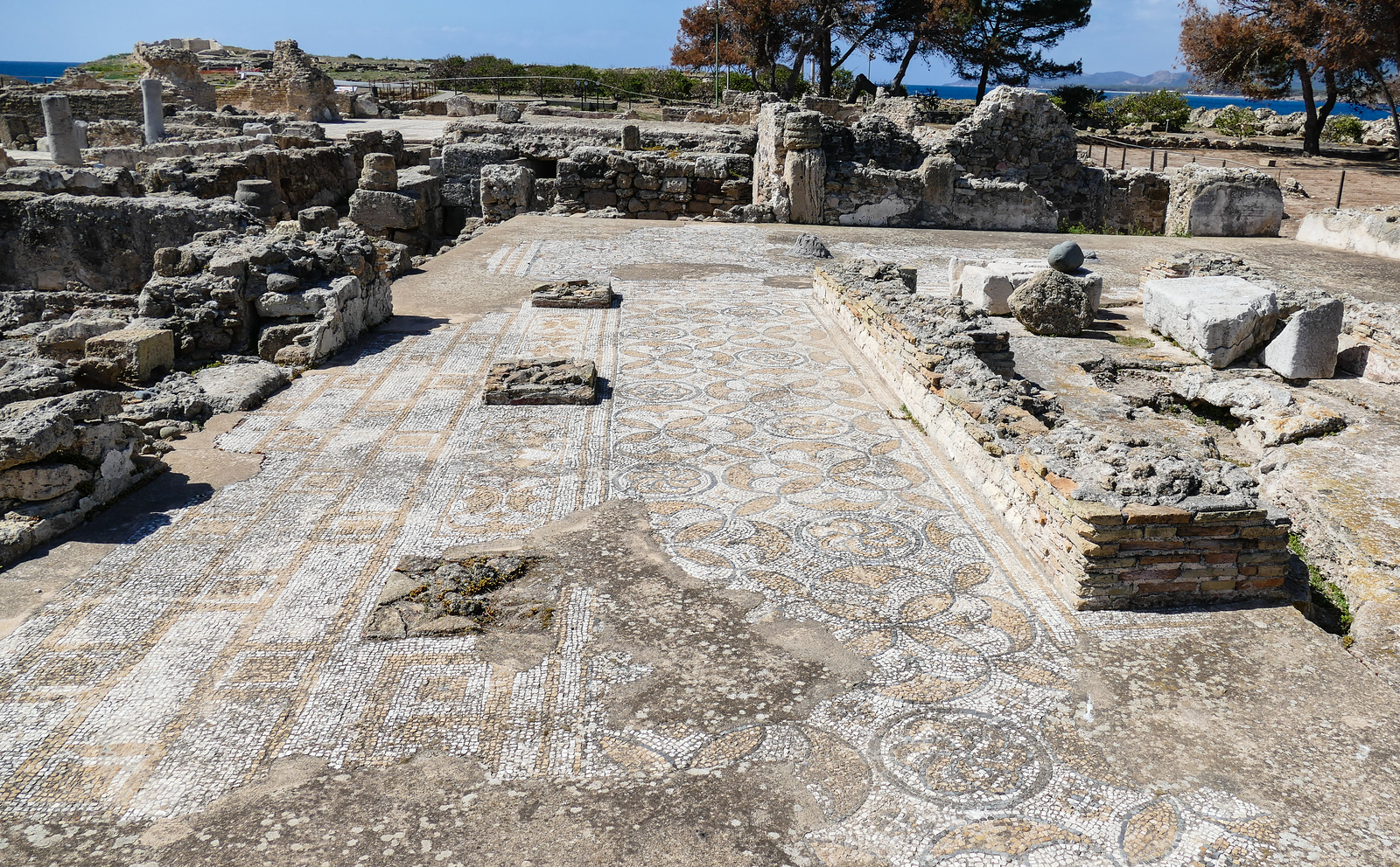 Mosaics in the ancient city of Nora, Sardinia. Explore this historical site on a cruise excursion. #Sardinia #Nora #cruise