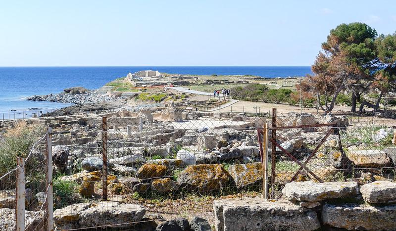 a set of ruins on the coast