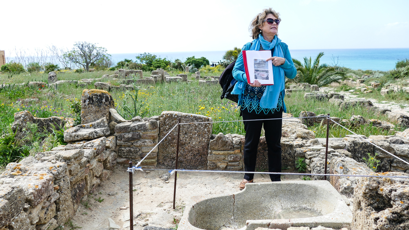 Learning about Carthaginian bathing practices at Selinunte, Sicily.