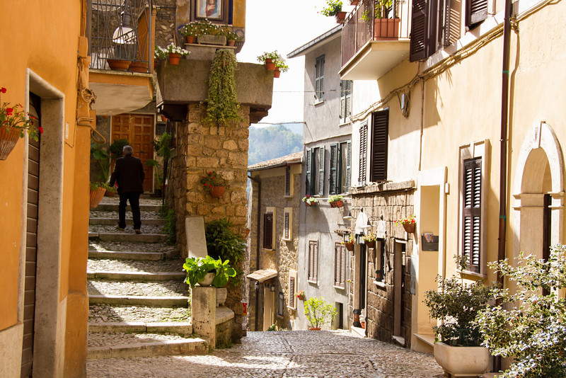Exploring the old town of Subiaco, Italy