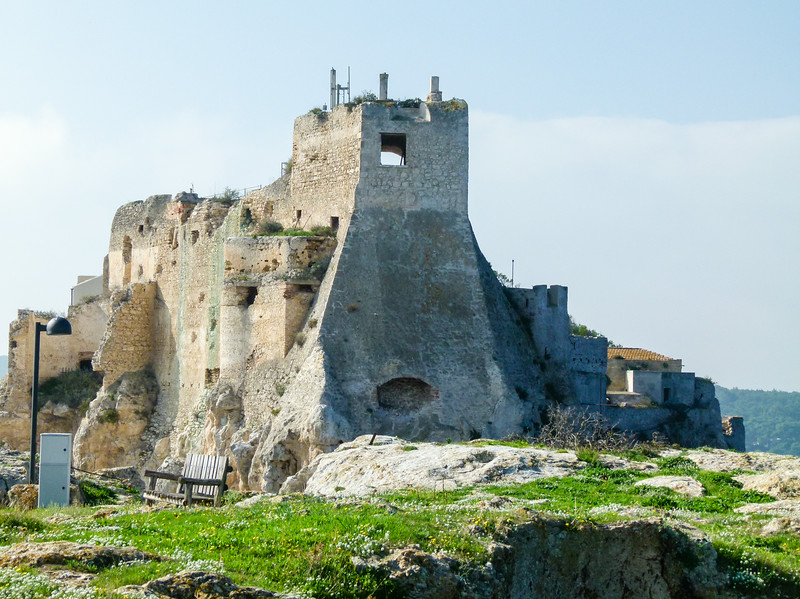 Stone monastery from the middle ages in the Tremiti Islands