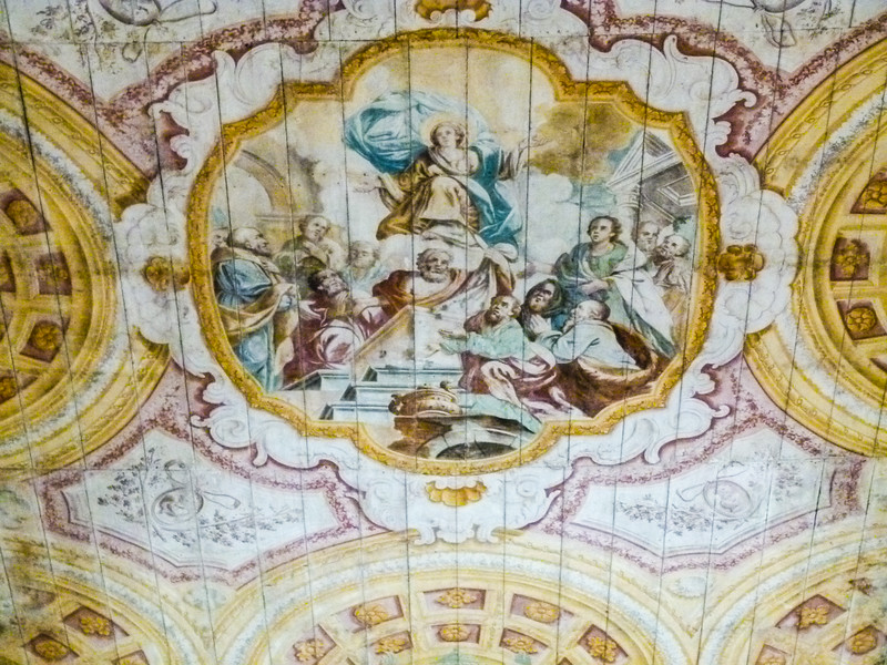 Closeup of fresco ceiling in Santa Maria a Mare