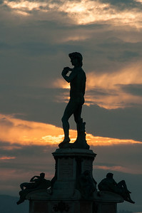 David at sunset, Florence