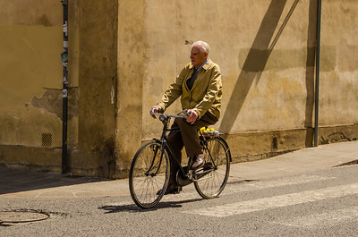 Man on Bicycle, Florence