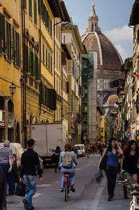 Street leading to the Duomo, Florence