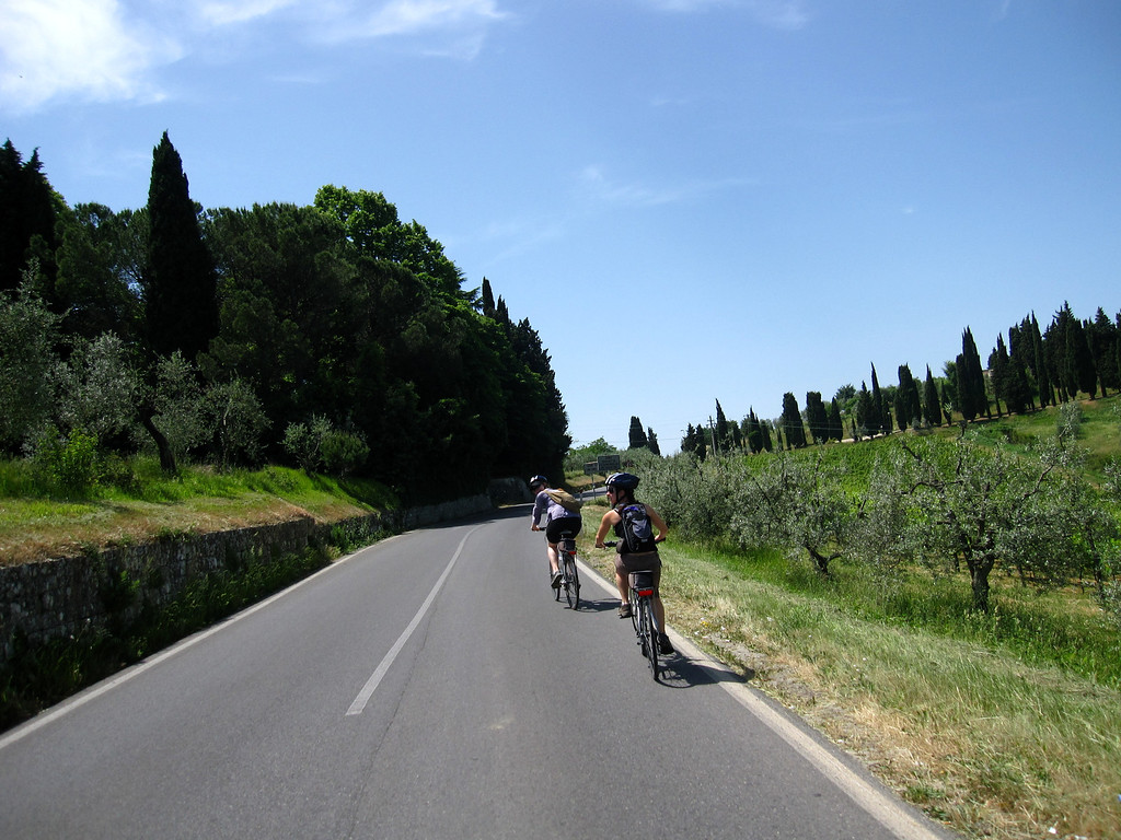 Biking through Tuscany