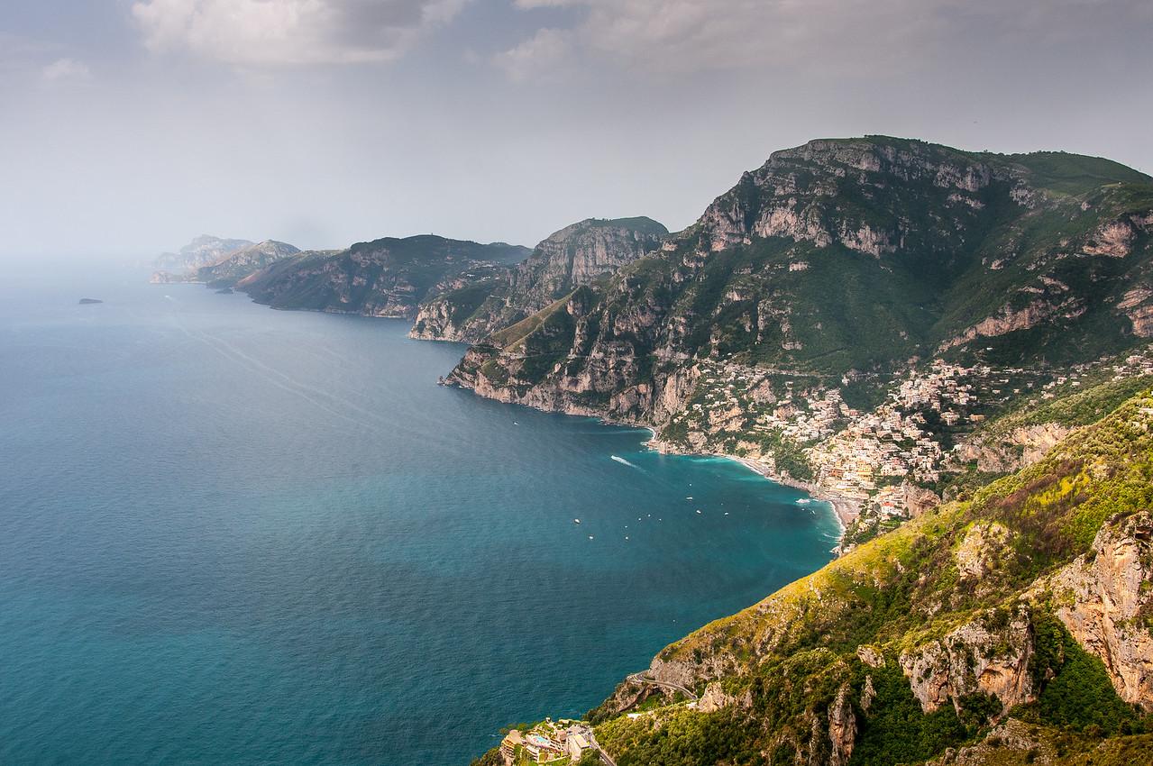 Panorama of the beautiful Amalfi Coast in Italy