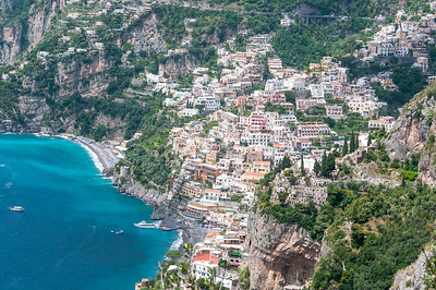 Buildings and houses on a hill at the Almafi Coast in Italy