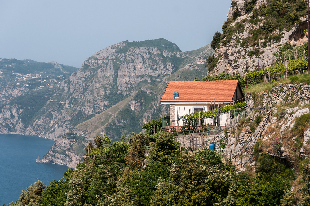 A House Overlooking the Amalfi Coast, Italy