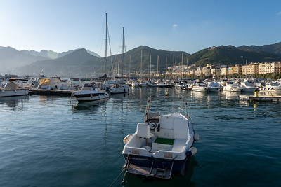 Salerno harbor in Italy