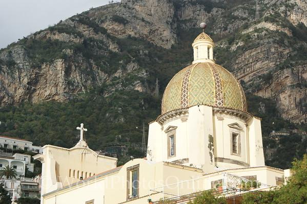 Positano - church of Santa Maria Assunta - Dome