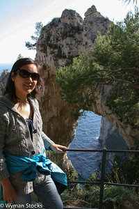 Arco Naturale on the island of Capri just off the Amalfi Coast of Italy.