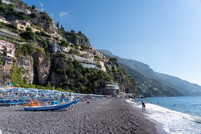 Beach in Positano, Italy