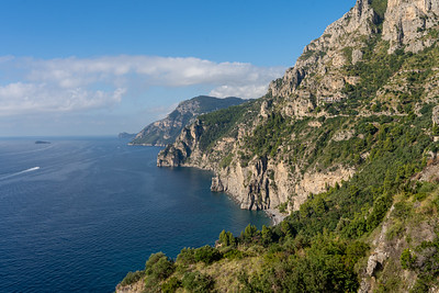 Driving along the Amalfi Coast in Italy