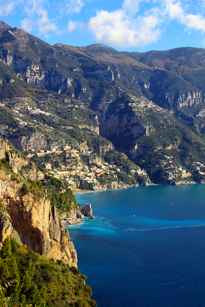 Italy, Amalfi Coast, View from Drive