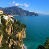 Italy, Amalfi Coast, Approach to the Town of Amalfi