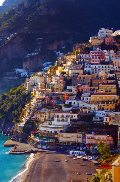 Italy, Amalfi Coast, Town of Positano