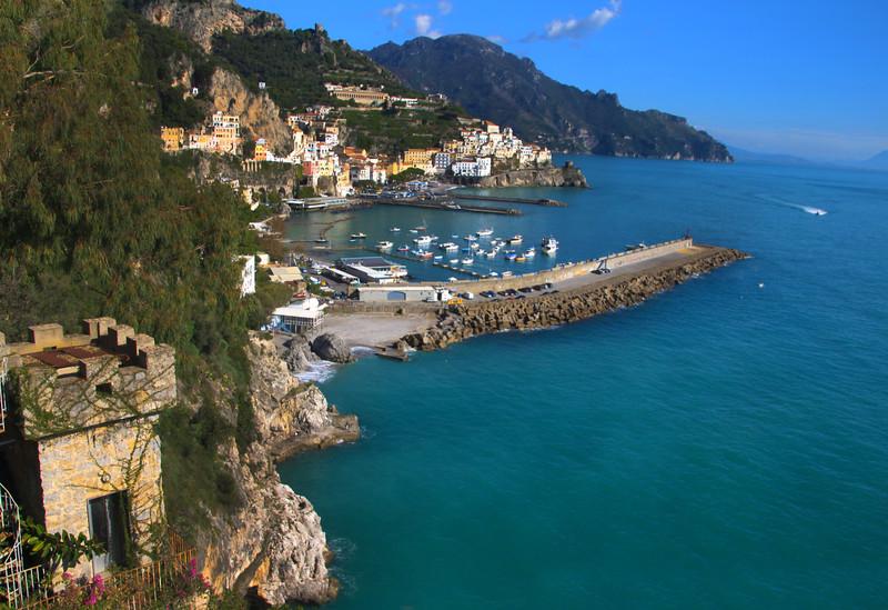 Italy, Amalfi Coast, Town of Amalfi from State Road 163